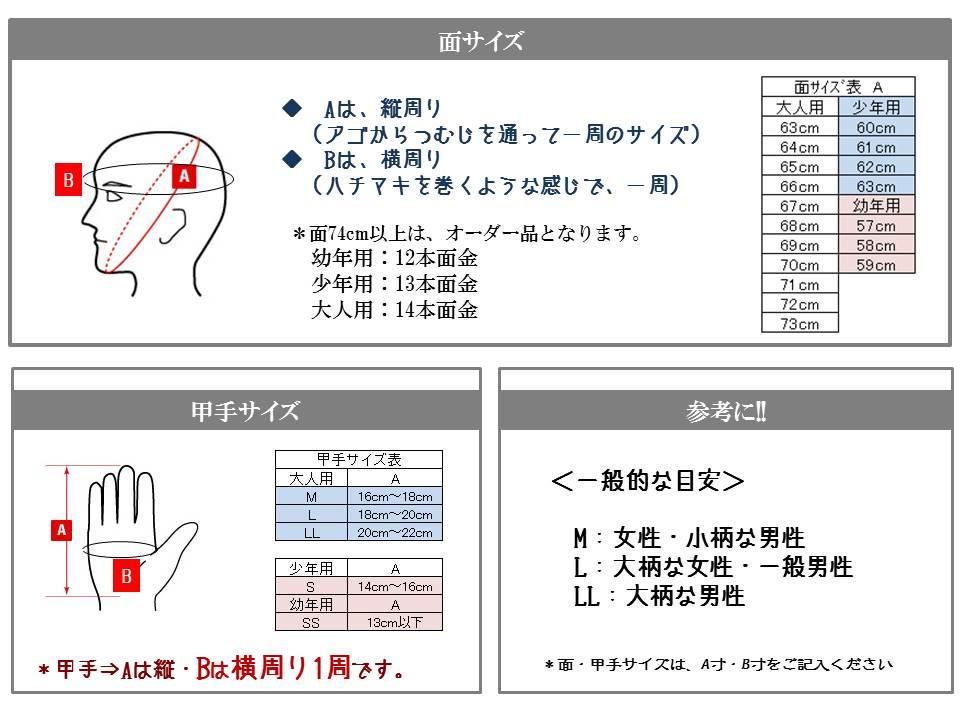 防具サイズ表